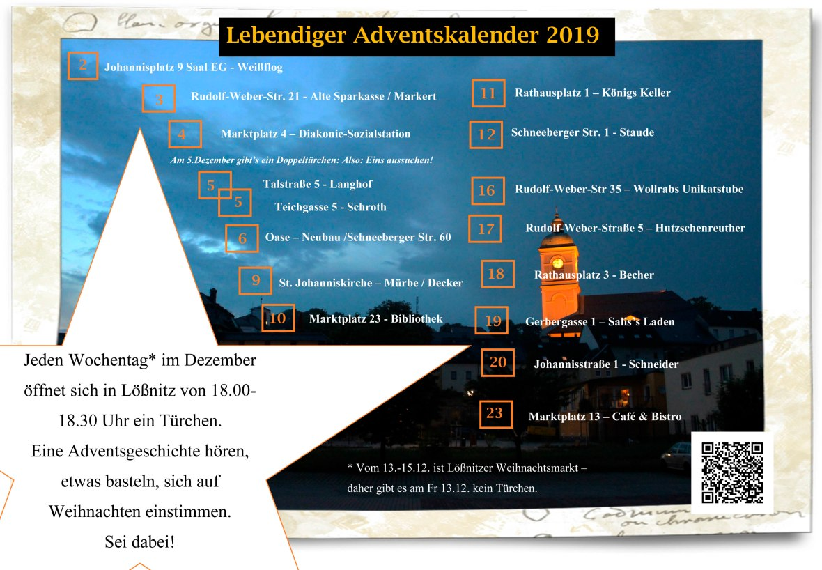 Plakat A4 KLEIN Lebendiger Adventskalender - Kopie