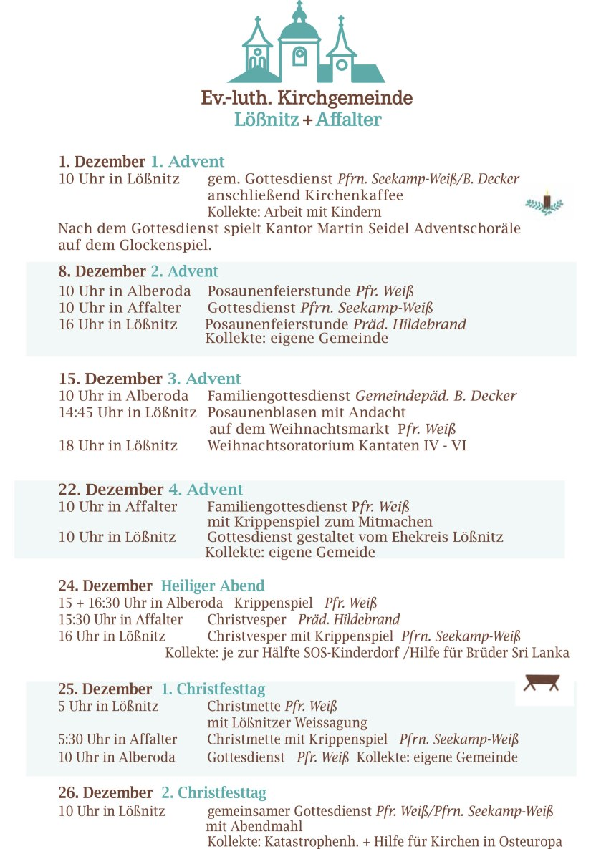 Kirchennachrichten Lößnitz Dezember-Januar-1