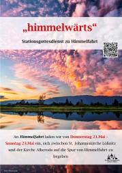 Plakat Stationsgottesdienst Himmelfahrt