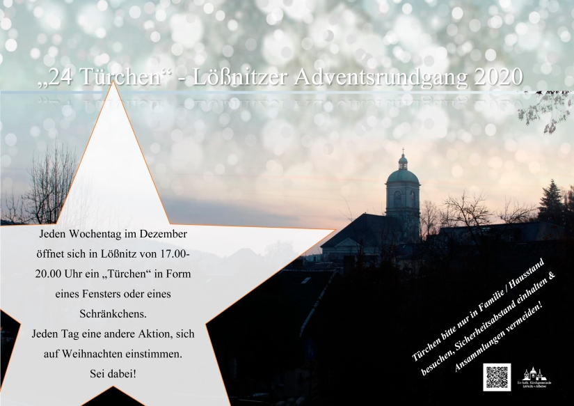 Plakat 24 Türchen III (mit Text+ Stern)